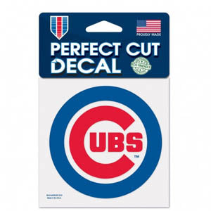 "Chicago Cubs  MLB Baseball 4"" x 4"" Decal - Dynasty Sports & Framing"