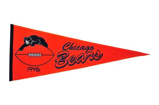 Chicago Bears NFL Football Throwback Pennant
