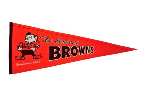 Cleveland Browns NFL Football Throwback Pennant - Dynasty Sports & Framing