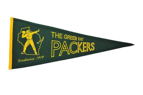 Green Bay Packers NFL Football Throwback Pennant - Dynasty Sports & Framing