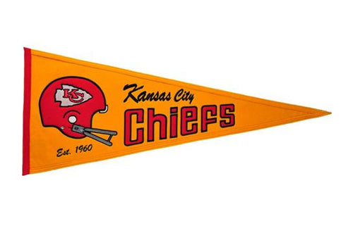 Kansas City Chiefs NFL Football Throwback Pennant