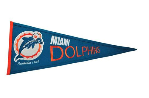 Miami Dolphins NFL Football Throwback Pennant