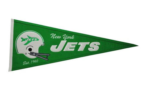 New York Jets NFL Football Throwback Pennant - Dynasty Sports & Framing