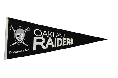 Oakland Raiders NFL Football Throwback Pennant