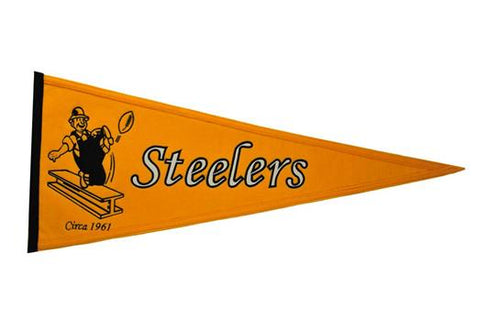 Pittsburgh Steelers NFL Football Throwback Pennant - Dynasty Sports & Framing