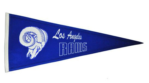 Los Angeles Rams NFL Football Throwback Pennant - Dynasty Sports & Framing
