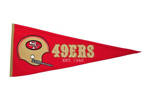 San Francisco 49ers NFL Football Throwback Pennant - Dynasty Sports & Framing