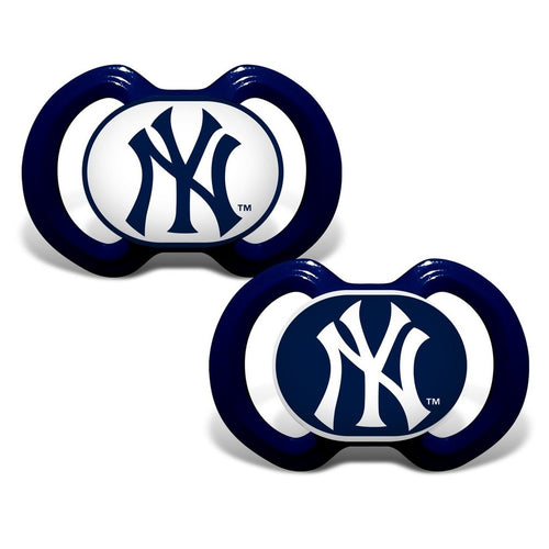 New York Yankees MLB Baseball 2 Pack Baby Pacifiers - Dynasty Sports & Framing