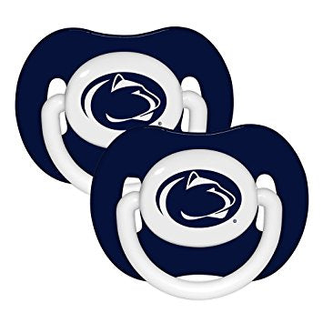 Penn State Nittany Lions Football 2 Pack Baby Pacifiers