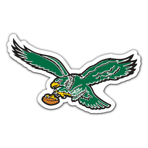 "Philadelphia Eagles Throwback NFL Football 8"" Die-Cut Magnet"