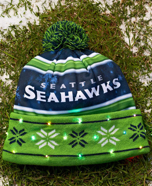 Seattle Seahawks Light Up Knit Beanie Hat - Dynasty Sports & Framing