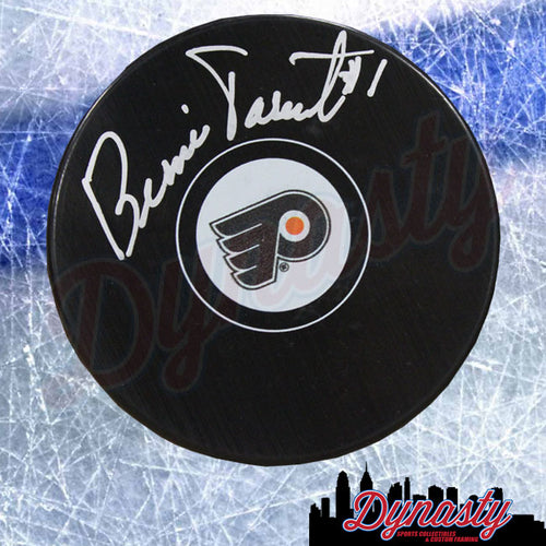 Bernie Parent Autographed Philadelphia Flyers Hockey Logo Puck - Dynasty Sports & Framing