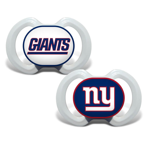 New York Giants NFL Football 2 Pack Baby Pacifiers - Dynasty Sports & Framing