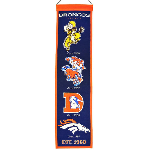 Denver Broncos NFL Heritage Banner - Dynasty Sports & Framing