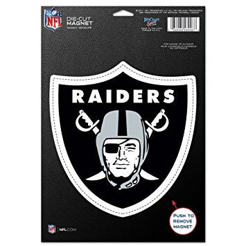 "Oakland Raiders NFL Football 8"" Die-Cut Magnet"