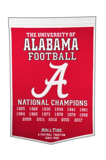 Alabama Crimson Tide NCAA Dynasty Banner - Dynasty Sports & Framing
