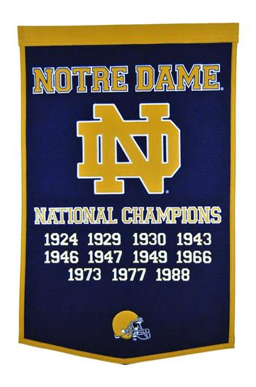 Notre Dame Fighting Irish NCAA Football Dynasty Banner - Dynasty Sports & Framing