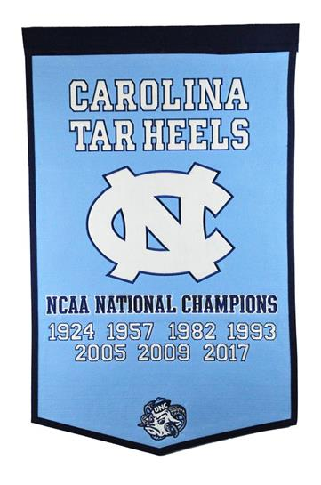North Carolina Tar Heels NCAA Basketball Dynasty Banner - Dynasty Sports & Framing
