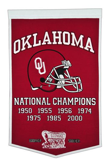 Oklahoma Sooners NCAA Football Dynasty Banner - Dynasty Sports & Framing