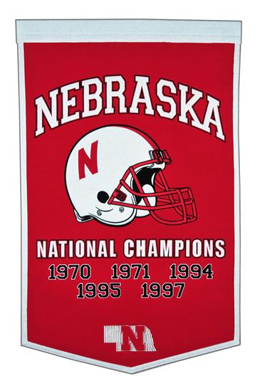 Nebraska Cornhuskers NCAA Football Dynasty Banner - Dynasty Sports & Framing