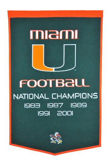 Miami Hurricanes NCAA Football Dynasty Banner