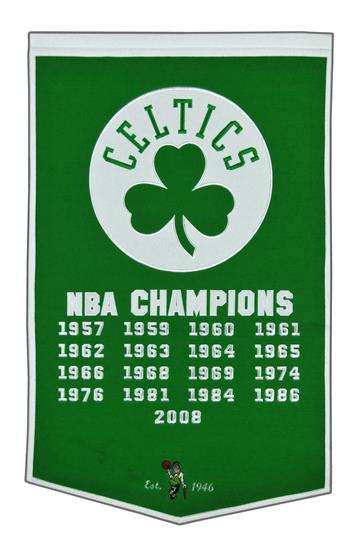 Boston Celtics NBA Dynasty Banner
