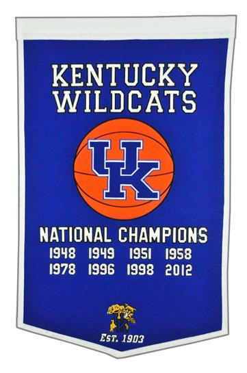 Kentucky Wildcats NCAA Basketball Dynasty Banner