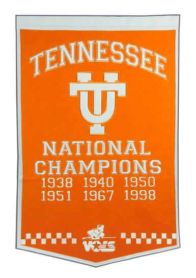 Tennessee Volunteers NCAA Football Dynasty Banner - Dynasty Sports & Framing