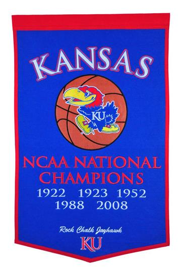 Kansas Jayhawks NCAA Basketball Dynasty Banner - Dynasty Sports & Framing