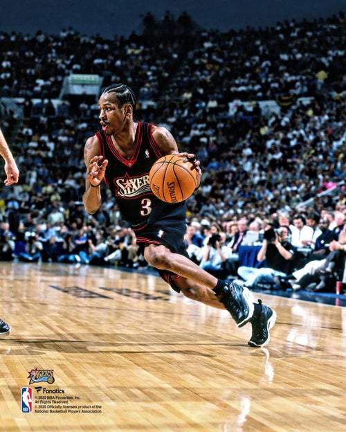 "Allen Iverson in Action Philadelphia 76ers 8"" x 10"" Basketball Photo - Dynasty Sports & Framing"