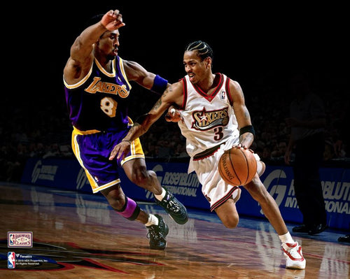 "Kobe Bryant v. Allen Iverson 8"" x 10"" Basketball Photo - Dynasty Sports & Framing"