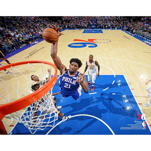 "Joel Embiid Rim-Cam Dunk Philadelphia 76ers 8"" x 10"" Basketball Photo"