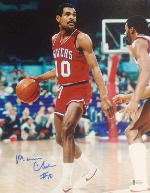 "Maurice Cheeks in Action Philadelphia 76ers Autographed 11"" x 14"" Basketball Photo - Dynasty Sports & Framing"