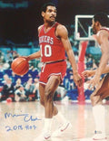 "Maurice Cheeks in Action Philadelphia 76ers Autographed 11"" x 14"" Basketball Photo"