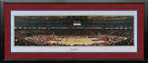 Philadelphia 76ers Spectrum Foul Shot NBA Basketball Rob Arra Framed and Matted Stadium Panorama