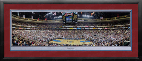 Philadelphia 76ers Wells Fargo Center Foul Shot NBA Basketball Rob Arra Framed Stadium Panorama