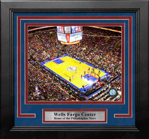 "Philadelphia 76ers Wells Fargo Center NBA Basketball 8"" x 10"" Framed and Matted Arena Photo"