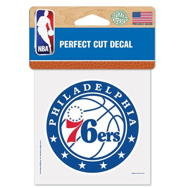 "Philadelphia 76ers NBA Basketball 4"" x 4"" Decal - Dynasty Sports & Framing"