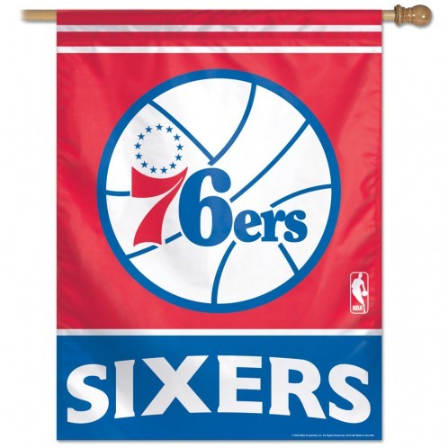 Philadelphia 76ers NBA Basketball Vertical Flag
