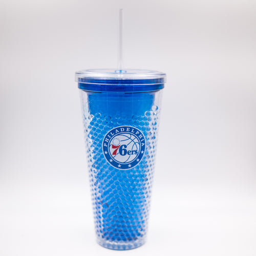Philadelphia 76ers NBA Basketball Freezer Sip-N-Go Tumbler - Dynasty Sports & Framing