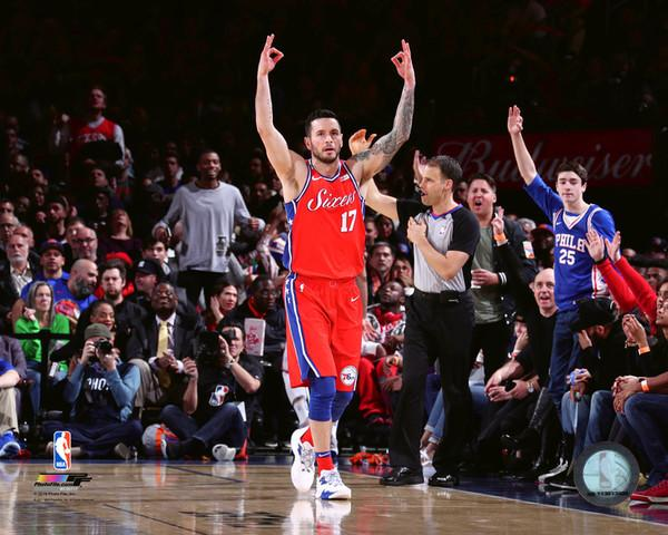 "JJ Redick Philadelphia 76ers Celebration NBA Basketball 8"" x 10"" Photo"