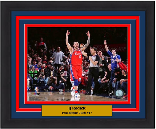 "JJ Redick Philadelphia 76ers Celebration NBA Basketball 8"" x 10"" Framed and Matted Photo"