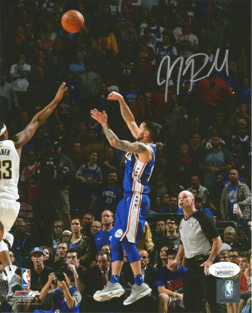 "JJ Redick Philadelphia 76ers Shoot Autographed NBA Basketball 16"" x 20"" Photo - Dynasty Sports & Framing"
