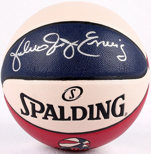 Philadelphia 76ers Julius Erving Autographed ABA Basketball with 'Dr. J' Inscription