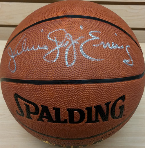 Philadelphia 76ers Julius Erving Autographed I/O Basketball with 'Dr. J' Inscription
