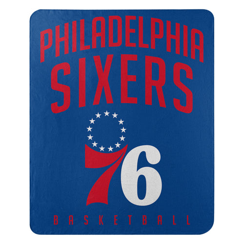 "Philadelphia 76ers NBA Basketball 50"" x 60"" Layup Fleece Blanket - Dynasty Sports & Framing"