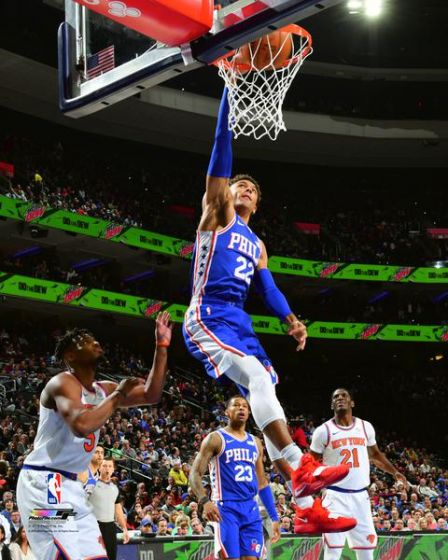 "Matisse Thybulle in Action Philadelphia 76ers NBA Basketball 8"" x 10"" Photo - Dynasty Sports & Framing"