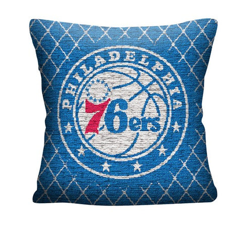 "Philadelphia 76ers 20"" Jacquard Basketball Pillow"