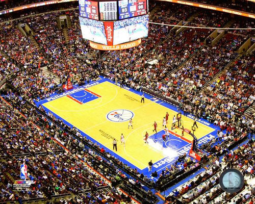 "Philadelphia 76ers Wells Fargo Center NBA Basketball 8"" x 10"" Arena Photo"