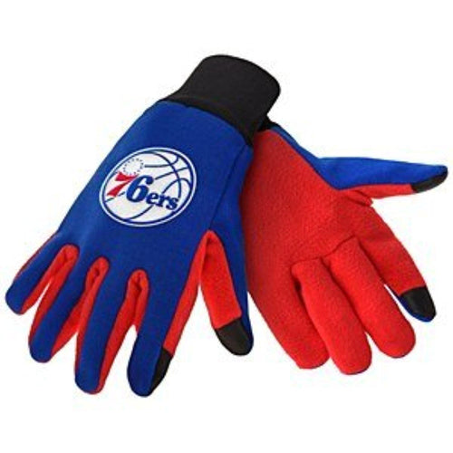 Philadelphia 76ers NBA Basketball Texting Gloves - Dynasty Sports & Framing